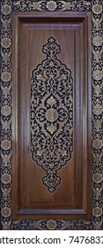 Carved, wooden,  national  ornaments.Handmade on the door.