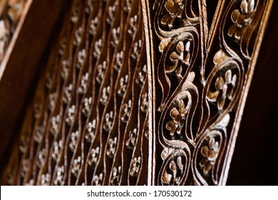 Carved wooden surface