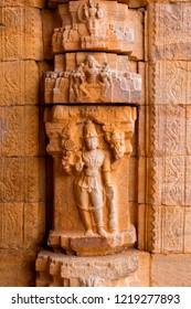 Carving detail in gandikota temple, Kadapa, Andhra Pradesh, India