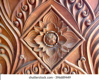The carving patterns of Khmer pagoda in Vietnam.