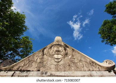Carvings of cider garden wall, Yogyakarta