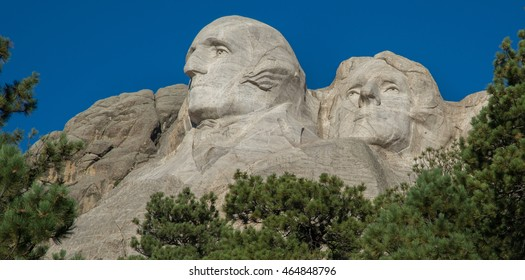 Carvings at Mount Rushmore in South Dakota