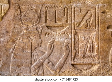 Carvings on Luxor temle