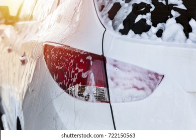 Carwash, Car in foam Toned