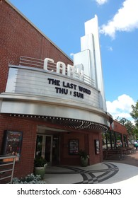 CARY, NC - May 2017: The renovation of Cary Theatre is part of the town's revitalization effort.