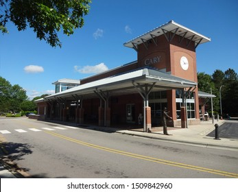 CARY, NC / USA - May 2017: Train Station in Downtown Cary, North Carolina