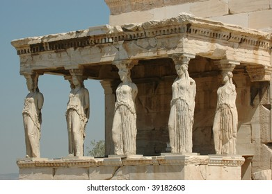 Caryatids in Athens, Greece