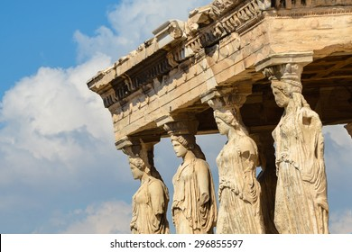 Caryatids Portico On Acropolis Antique Temple Stock Photo Edit Now