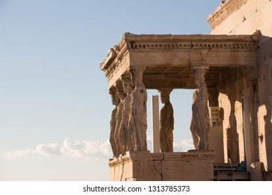Caryatids at the Temple of Athena Nike in Greece