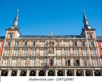 Casa de la Panaderia on Plaza Mayor in Madrid, Spain.