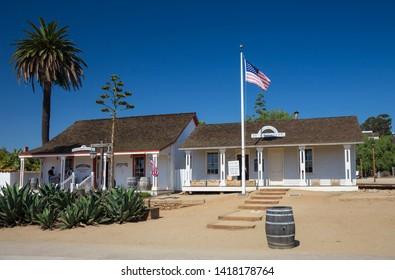 Casa de Pedrorena (left) and San Diego Union Museum (right), San Diego State Historic Park, California, USA. September 24th 2016