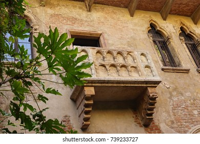 Casa di Giulietta. The balcony of Juliet`s House. Verona, Italy
