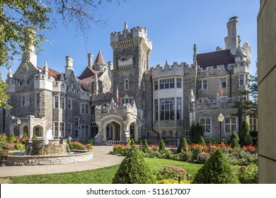 Casa Loma in Toronto Ontario Canada built in the Gothic Revival style.