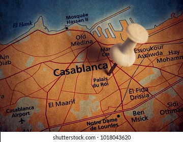 Casablanca  destination in the map