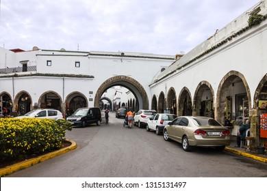Casablanca, Morocco - Feb 17, 2019: Old market of Casablanca.