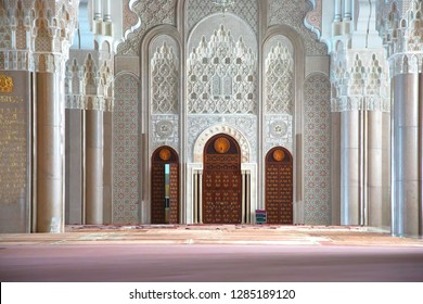 Casablanca, Morocco - February 21, 2013: Internal of Hassan II Mosque in Casablanca, Morocco