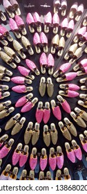 Casablanca, Morocco - May 01 2019 : babouche - traditional Moroccan shoe for women