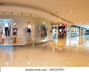 Casablanca, Morocco - May 10, 2018: view of shops in Morocco Mall shop center