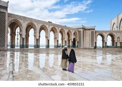 Casablanca -Morocco-January 8, 2009: The Hassan II Mosque in Casablanca, Morocco