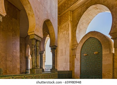 Casablanca mosque inside architecture, Morocco