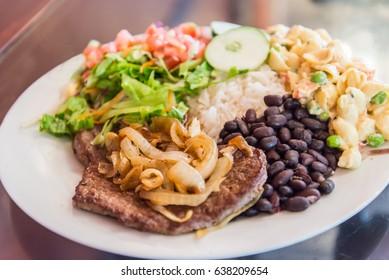 """""""Casado"""" costarican food"""