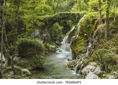 Casaletto Spartano, the waterfall of the Hair of Venus. Cilento, Italy.