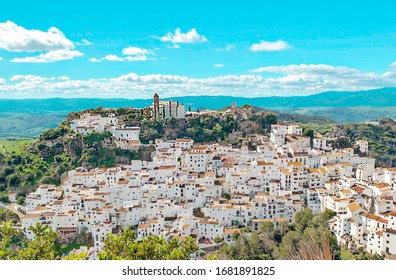 Casares in the mountains in Andalusia in the south of Spain
