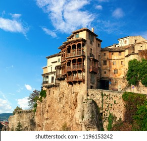 The Casas Colgadas ( Hanging Houses). Hanging Houses in the medieval town of Cuenca, Castilla La Mancha, Spain.