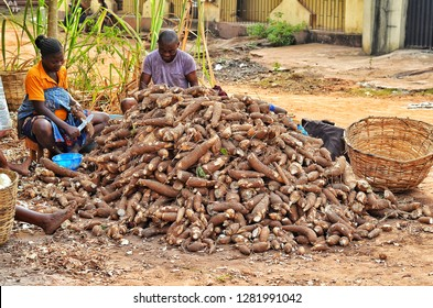 CASAVA TUBER this is one of the nature God gave to man. as food and beneficial for food and industries 11 January;2019 Ogun State, Nigeria