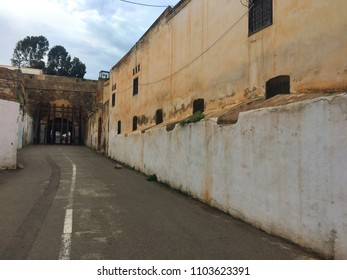 Casbah, Algiers, Algeria - December 17, 2016: Old streets of old city.
