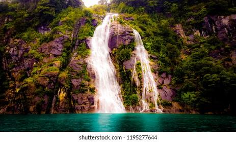 Cascada Yefe, Lago de Todos los Santos,  Peulla, Petrohue, Chile