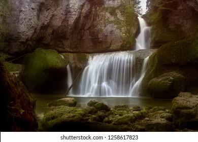 Cascade de la Billaude; Jura; Frankrijk / France