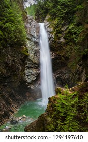 Cascade Falls Regional Park. Located Northeast of Mission, British Columbia, Cascade Falls is a scenic waterfall that can be viewed from a suspension bridge that crosses the river.