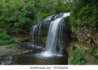 Cascade Falls waterfall in Osceola, Wisconsin USA.