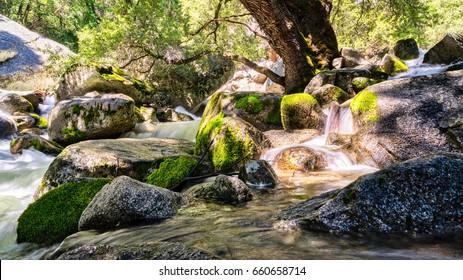 Cascade Falls in Yosemite National Park.