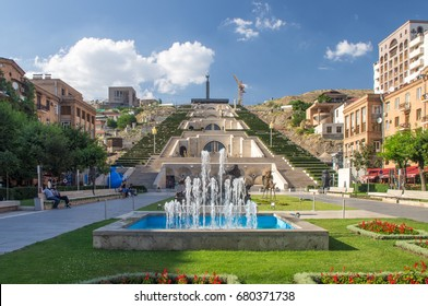 The Cascade, is a giant stairway in Yerevan, Armenia. It links the downtown Kentron area of Yerevan with the Monument neighbourhood. 27th June 2016
