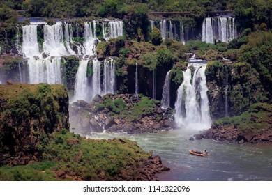 Cascade of Iguazu Waterfall, Brazil