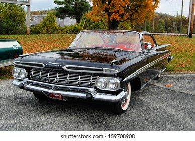 CASCADE, MD  OCTOBER 19:  Chevrolet Impala at the King of the Mountain Car Show on October 19, 2013 in Cascade, MD.  Proceeds from the event benefit the Children's Miracle Network.