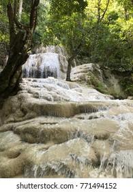cascade on rock
