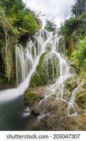 cascade of a village in Burgos (Spain)