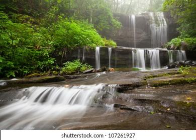 Cascade Waterfall Blue Ridge Mountains North Carolina