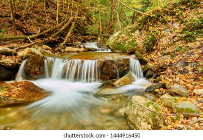 Cascade Waterfall, the end of The Cascades Trail in North Adams, Massachusetts, USA