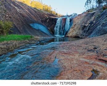 Cascade Waterfall Spring Creek in Beechworth Gorge, Beechworth,  North Eastern Victoria,  Australia.