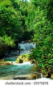 Cascade waterfalls. Jamaica