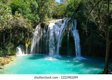 Cascades of  El Chiflon waterfall, Chiapas, Mexico