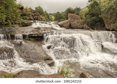 The Cascades in the Mahai River in the Kwazulu-Natal Drakensberg is a popular swimming and picnic spot