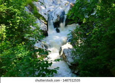 Cascades on the Hudson Brook in Natural Bridge State Park in North Adams, Massachusetts