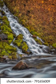Cascading waterfall flows into Swift Creek just outside of Afton Wyoming.
