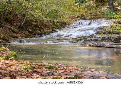 A cascading waterfall in Kentucky.