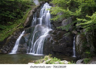 Cascading waterfall in Vermont